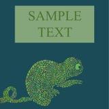 Illustrazione astratta di vettore del camaleonte Immagini Stock Libere da Diritti
