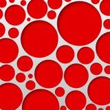 Illustrazione astratta di vettore del fondo del cerchio Fotografia Stock