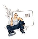 Illustrazione astratta di vettore dell'uomo Immagini Stock Libere da Diritti