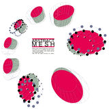 Illustrazione astratta di vettore della maglia, tema di tecnologia Fotografie Stock