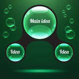 Illustrazione astratta di vettore di infographics Immagini Stock
