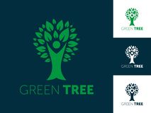 Illustrazione astratta di vettore di logo dell'albero illustrazione vettoriale