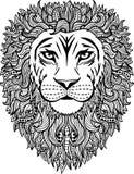 Illustrazione astratta disegnata a mano del leone Immagini Stock