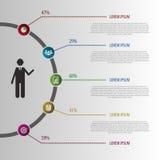 Illustrazione astratta Infographic di progettazione Vettore Immagine Stock