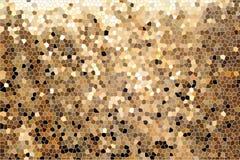 Illustrazione astratta, modello di vetro di mosaico dell'oro fotografia stock libera da diritti