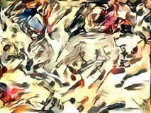 Illustrazione astratta nello stile dell'avanguardia Fotografia Stock Libera da Diritti