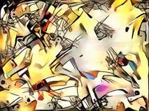 Illustrazione astratta nello stile dell'avanguardia Immagine Stock Libera da Diritti