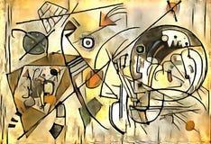 Illustrazione astratta nello stile dell'avanguardia Immagini Stock