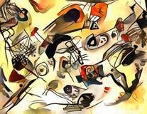 Illustrazione astratta nello stile dell'avanguardia Immagine Stock