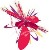 Illustrazione astratta rossa viola illustrazione vettoriale