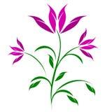 Illustrazione astratta stilizzata del trio del fiore illustrazione di stock