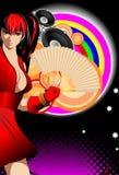 Illustrazione astratta su un tema del randello Immagine Stock