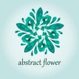 Illustrazione astratta verde del fiore per il manifesto Fotografia Stock Libera da Diritti