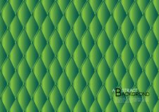 Illustrazione astratta verde di vettore del fondo, disposizione del modello di copertura, aletta di filatoio di affari, lusso di  Fotografia Stock Libera da Diritti