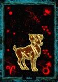 Illustrazione astrologica: Ariete Immagini Stock Libere da Diritti