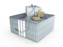 Illustrazione attuale della casella 3D di Grey Fotografia Stock Libera da Diritti