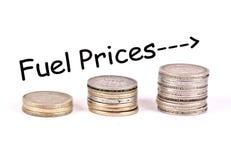 Illustrazione in aumento di prezzi di combustibile Fotografia Stock