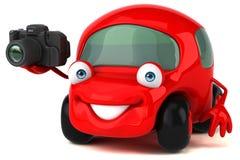 Illustrazione automobilistica 3D di divertimento Immagine Stock