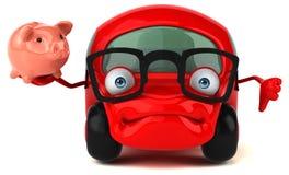 Illustrazione automobilistica 3D di divertimento Fotografia Stock Libera da Diritti