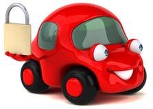 Illustrazione automobilistica 3D di divertimento Fotografie Stock Libere da Diritti