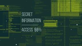 Illustrazione avanzata di codice dei pirati informatici Fotografia Stock Libera da Diritti