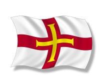 Illustrazione, bandiera di Guernsey Immagine Stock