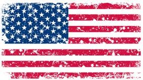 Illustrazione - bandierina degli S.U.A. nel retro stile Fotografia Stock Libera da Diritti
