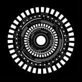 Illustrazione bianca astratta di vettore del cerchio Fotografie Stock