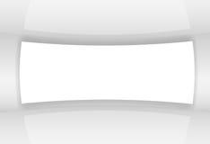Illustrazione bianca astratta di vettore dello schermo Fotografia Stock Libera da Diritti