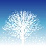Illustrazione bianca dell'albero Immagini Stock