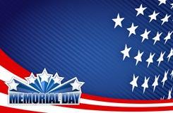 Illustrazione bianca di Giorno dei Caduti e blu rossa Fotografia Stock