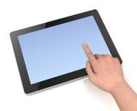 Illustrazione in bianco di concetto 3d del computer della compressa Immagine Stock Libera da Diritti