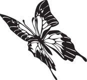 Illustrazione in bianco e nero della farfalla illustrazione vettoriale