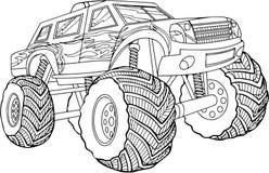 Illustrazione in bianco e nero di vettore dell'automobile su fondo bianco Fotografia Stock Libera da Diritti