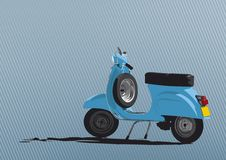 Illustrazione blu del motorino Fotografia Stock