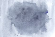 Illustrazione blu dell'acquerello, immagine disegnata a mano Spruzzata azzurrata te Fotografia Stock