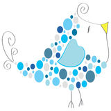 Illustrazione blu dell'uccello - arte di vettore Fotografia Stock Libera da Diritti