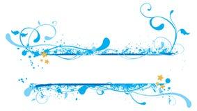 Illustrazione blu della bandiera Immagini Stock Libere da Diritti