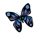 Illustrazione blu della farfalla illustrazione vettoriale
