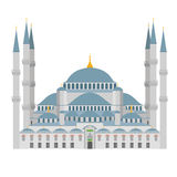 Illustrazione blu della moschea Costantinopoli (Turchia) royalty illustrazione gratis