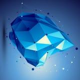 Illustrazione blu di tecnologia dell'estratto di vettore 3D Fotografie Stock Libere da Diritti