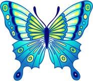 Illustrazione blu di vettore della farfalla Fotografia Stock Libera da Diritti