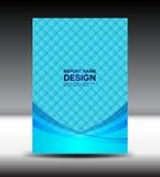Illustrazione blu di vettore di progettazione della copertura Fotografie Stock
