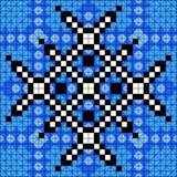 Illustrazione blu luminosa di vettore del fondo del pixel Fotografie Stock