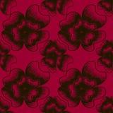 Illustrazione botanica d'annata dei colori neri e rosso scuro royalty illustrazione gratis
