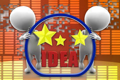 illustrazione brillante di idea dell'uomo 3D Immagini Stock Libere da Diritti