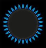Illustrazione bruciante di vettore della stufa dell'anello di gas Immagini Stock