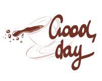 Illustrazione - buon giorno con un caffè royalty illustrazione gratis