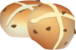 Illustrazione calda dei panini trasversali su fondo bianco illustrazione di stock