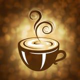 Illustrazione calda del caffè Immagine Stock